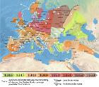 1346-1353 spread of the Black Death in Europe map