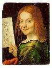 Italian: Ritratto di fanciullo con disegno A child with a drawing